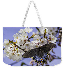 Black Swallowtail Butterfly Weekender Tote Bag