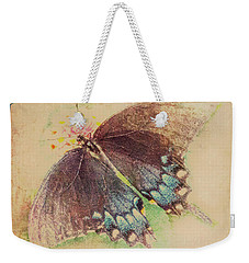 Black Swallowtail Butterfly Framed  Weekender Tote Bag