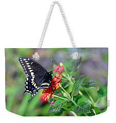 Black Swallowtail Weekender Tote Bag by Kay Lovingood