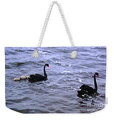 Black Swan Family Weekender Tote Bag by Cassandra Buckley