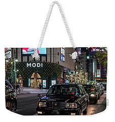 Black Taxi In Tokyo, Japan Weekender Tote Bag