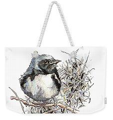 Black-throated Blue Warbler Weekender Tote Bag