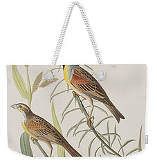 Black-throated Bunting Weekender Tote Bag by John James Audubon