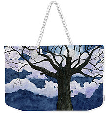 Black Tree At Night Weekender Tote Bag