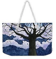 Black Tree At Night Weekender Tote Bag by Anne Marie Brown