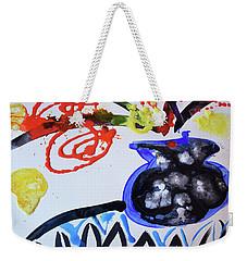 Black Vase Of Wild Flowers Weekender Tote Bag
