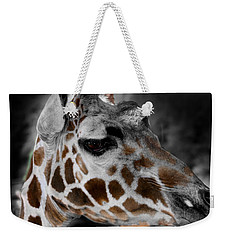 Black  White And Color Giraffe Weekender Tote Bag