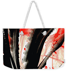 Black White Red Art - Tango 2 - Sharon Cummings Weekender Tote Bag by Sharon Cummings