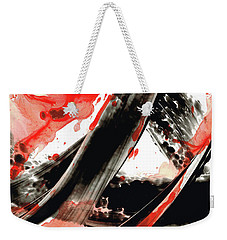 Black White Red Art - Tango - Sharon Cummings Weekender Tote Bag by Sharon Cummings
