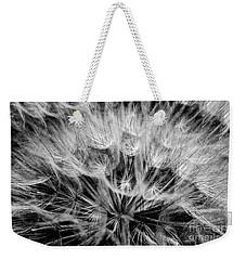 Black Widow Dandelion Weekender Tote Bag by Iris Greenwell