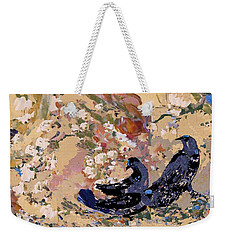 Black Wings Weekender Tote Bag