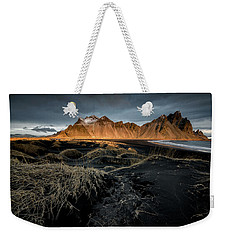 Blackbeach And Vestrahorn Weekender Tote Bag