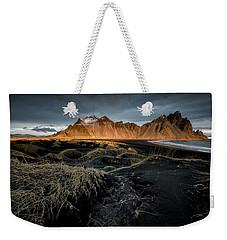 Blackbeach And Vestrahorn Weekender Tote Bag by Allen Biedrzycki