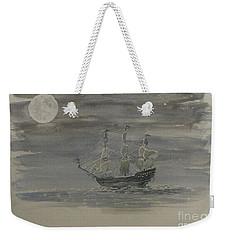 Blackbeard's Ship Weekender Tote Bag by Stacy C Bottoms
