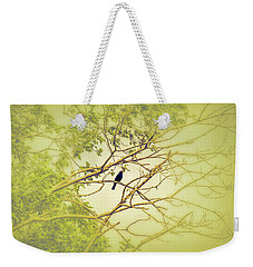 Weekender Tote Bag featuring the photograph Blackbird June 2016. by Leif Sohlman