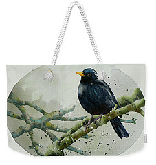Blackbird Painting Weekender Tote Bag by Alison Fennell