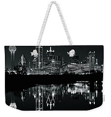 Blackest Night In Big D Weekender Tote Bag by Frozen in Time Fine Art Photography