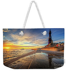 Weekender Tote Bag featuring the photograph Blackpool Sunset by Yhun Suarez
