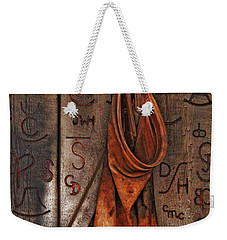 Weekender Tote Bag featuring the photograph Blacksmith Apron by Rowana Ray
