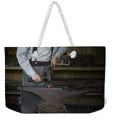 Blacksmith At Work Weekender Tote Bag
