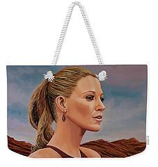 Blake Lively Painting Weekender Tote Bag by Paul Meijering