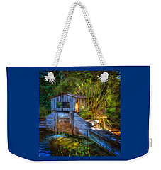 Weekender Tote Bag featuring the photograph Blakes Pond House by Thom Zehrfeld