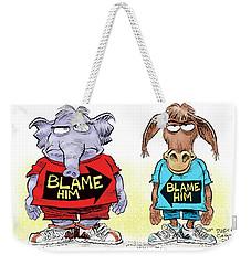 Blame Him Weekender Tote Bag