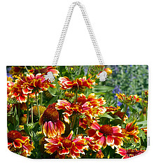 Blanket Flowers Weekender Tote Bag by Sharon Talson