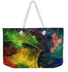 Weekender Tote Bag featuring the digital art Blanket Of Stars by Klara Acel