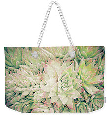 Weekender Tote Bag featuring the photograph Blanket Of Succulents by Ana V Ramirez