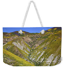 Blanket Of Wildflowers Cover The Temblor Range At Carrizo Plain National Monument Weekender Tote Bag