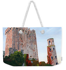 Weekender Tote Bag featuring the painting Blarney Castle by Lynne Reichhart