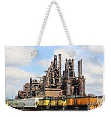 Blast Furnace A - Bethlehem Pa Weekender Tote Bag by DJ Florek