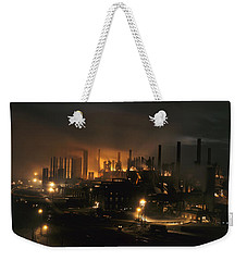 Blast Furnaces Of A Steel Mill Light Weekender Tote Bag