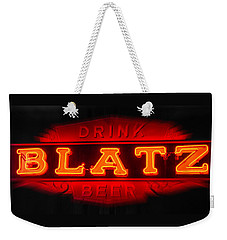 Blatz Beer  Weekender Tote Bag by Susan  McMenamin