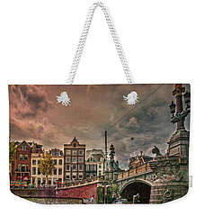 Weekender Tote Bag featuring the photograph Blauwbrug -blue Bridge- by Hanny Heim