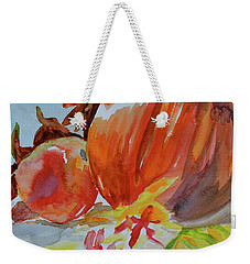 Weekender Tote Bag featuring the painting Blazing Autumn by Beverley Harper Tinsley