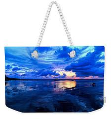 Blazing Blue Sunset Weekender Tote Bag