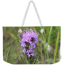Weekender Tote Bag featuring the photograph Blazing Star by Ann E Robson
