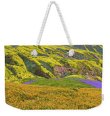 Weekender Tote Bag featuring the photograph Blazing Star On Temblor Range by Marc Crumpler