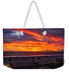 Blazing Sunset Over Malibu Weekender Tote Bag