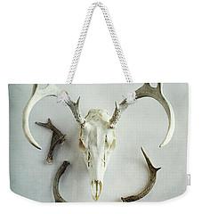 Bleached Stag Skull Weekender Tote Bag by Stephanie Frey