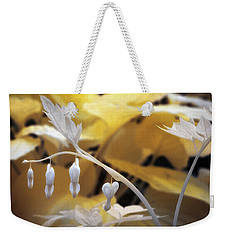 Bleeding Heart Gld Weekender Tote Bag by Paul Seymour