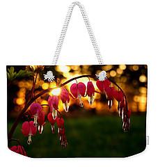 Bleeding Heart Sunset Weekender Tote Bag