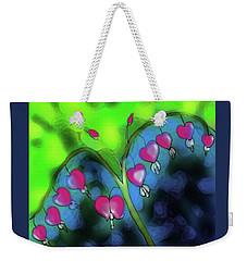 Weekender Tote Bag featuring the digital art Bleeding Hearts by Latha Gokuldas Panicker