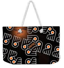 Bleeding Orange And Black - Flyers Weekender Tote Bag by Trish Tritz