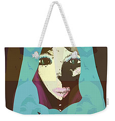 Weekender Tote Bag featuring the mixed media Blessed 2 by Ann Calvo