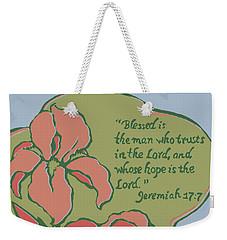 Blessed Is The Man Weekender Tote Bag