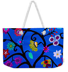 Weekender Tote Bag featuring the painting Blessed Tree Of Life by Pristine Cartera Turkus