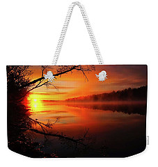 Blind River Sunrise Weekender Tote Bag